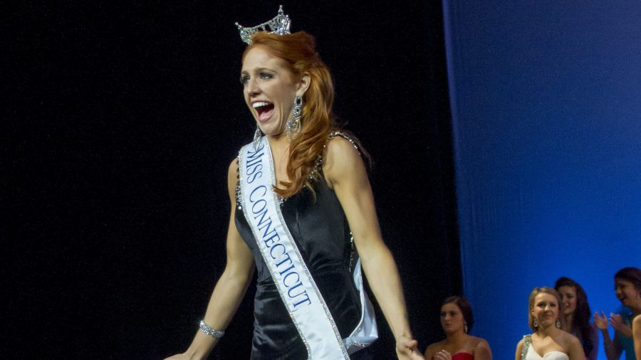 Senior, Kaitlyn Tarpey, is crowned at the 2013 Miss Connecticut pageant. Photo: Catherine Fiehn Photography