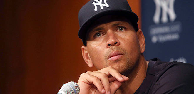 New York Yankees third baseman, Alex Rodriguez, among MLB players being suspended for elicit steroid use.