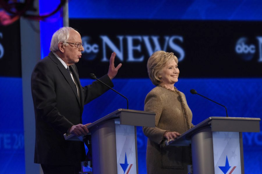 Hillary+and+Bernie+storm+Brooklyn