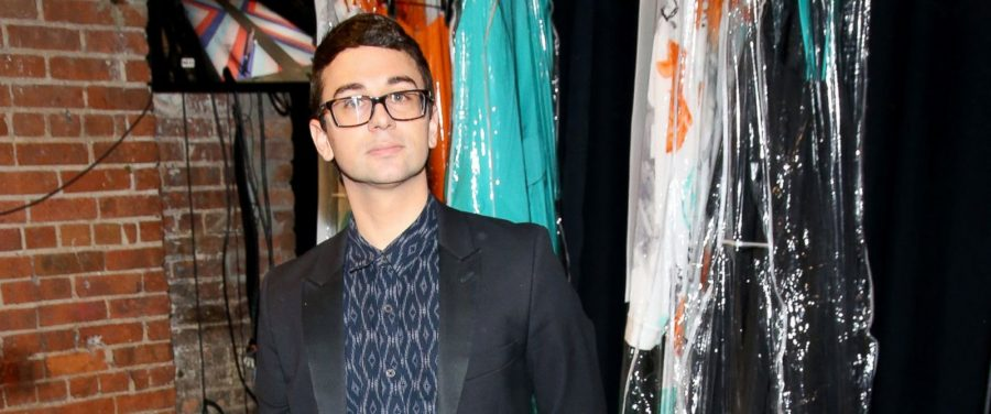 Christian Siriano backstage at one of his NYFW shows. Image courtesy of ABCNews.com.