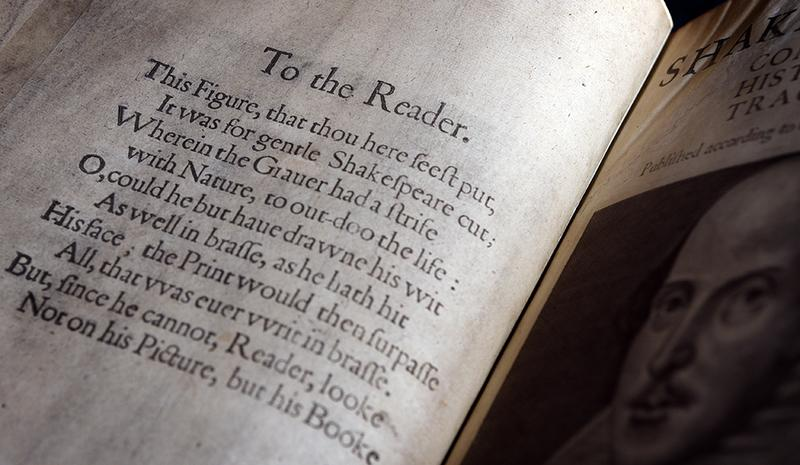 Shakespeare's First Folio [Photo: Clare Kendall / Atlas Obscura]