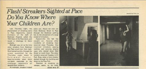 From the Archives: Flash! Streakers Sighted at Pace