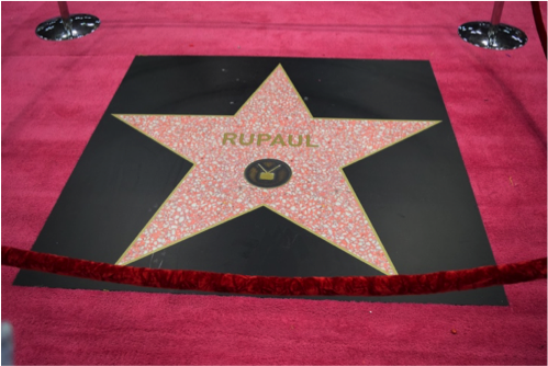 Rupaul's Hollywood star, photo courtesy of Grace Potter