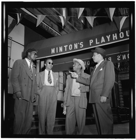Thelonious Monk, Howard McGhee, Roy Eldridge, and Teddy Hill at Minton